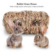 Ymiko Durable Rabbit Grass House Chew Toy Mat Bed for Hamster Guinea Pig Bunny,Rabbit Grass House, Durable Rabbit Grass House