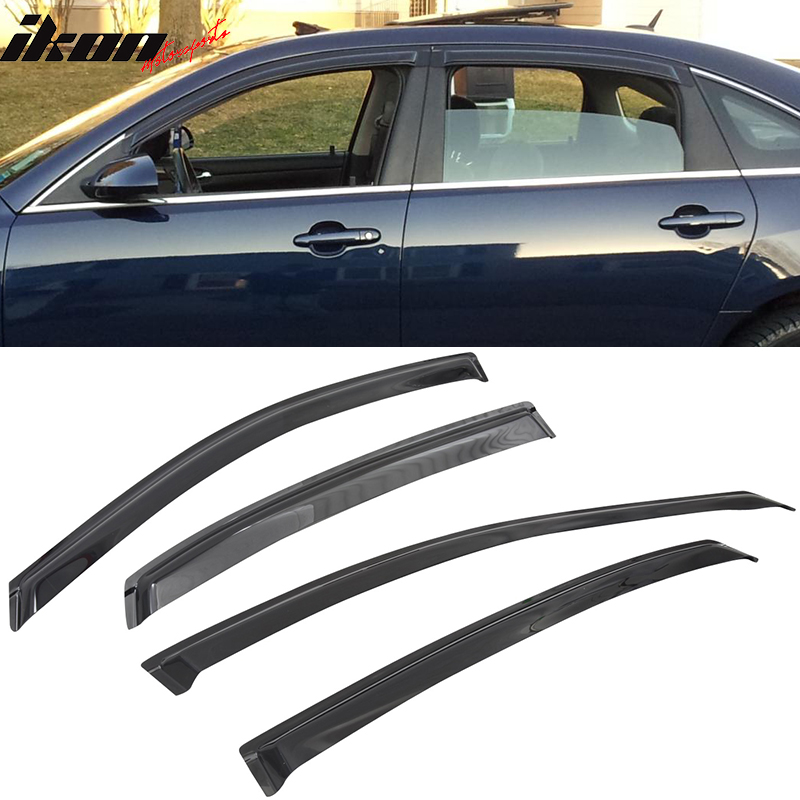 Fits 06-13 Chevy Impala Sedan Acrylic Window Visors 4Pc Set
