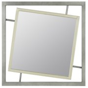 Cooper Classics Connor Mirror, Antique Silver and Zinc - 40426