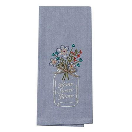 Kayo Designs - Kay Dee Designs F0747 Home Sweet Home Mason Jar Embroidered Tea Towel