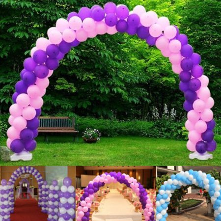 Wedlies Large Balloon Arch Column Stand Frame Kit for Birthday Wedding Party Decoration - Country Wedding Arches