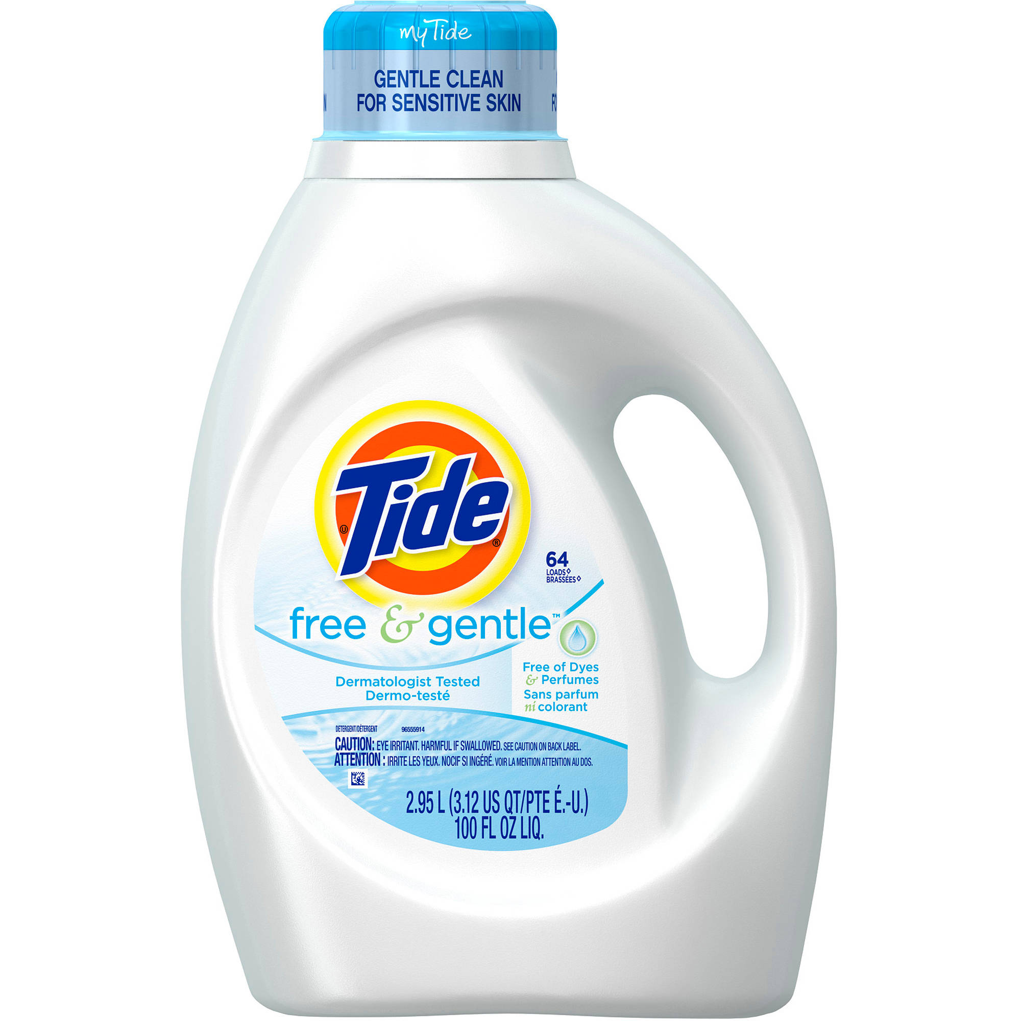 Tide Free and Gentle Liquid Laundry Detergent, (Choose Your Size)