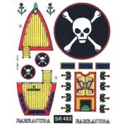 SR482 Barracuda Decal Sailboat