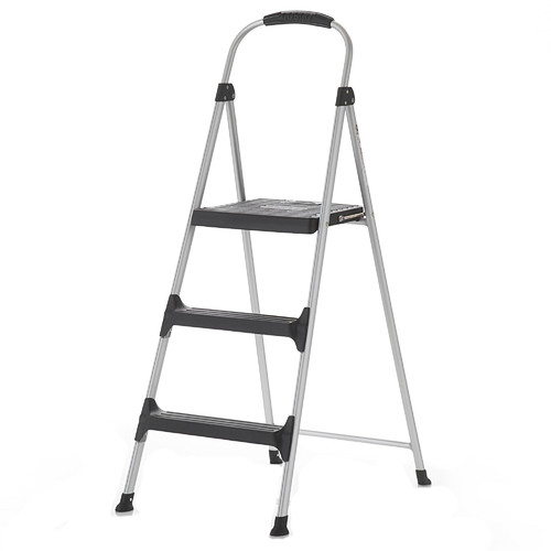 Cosco Home and Office Signature 3-Step Aluminum Step Stool with 200 lb. Load  sc 1 st  Walmart : aluminum step stools - islam-shia.org