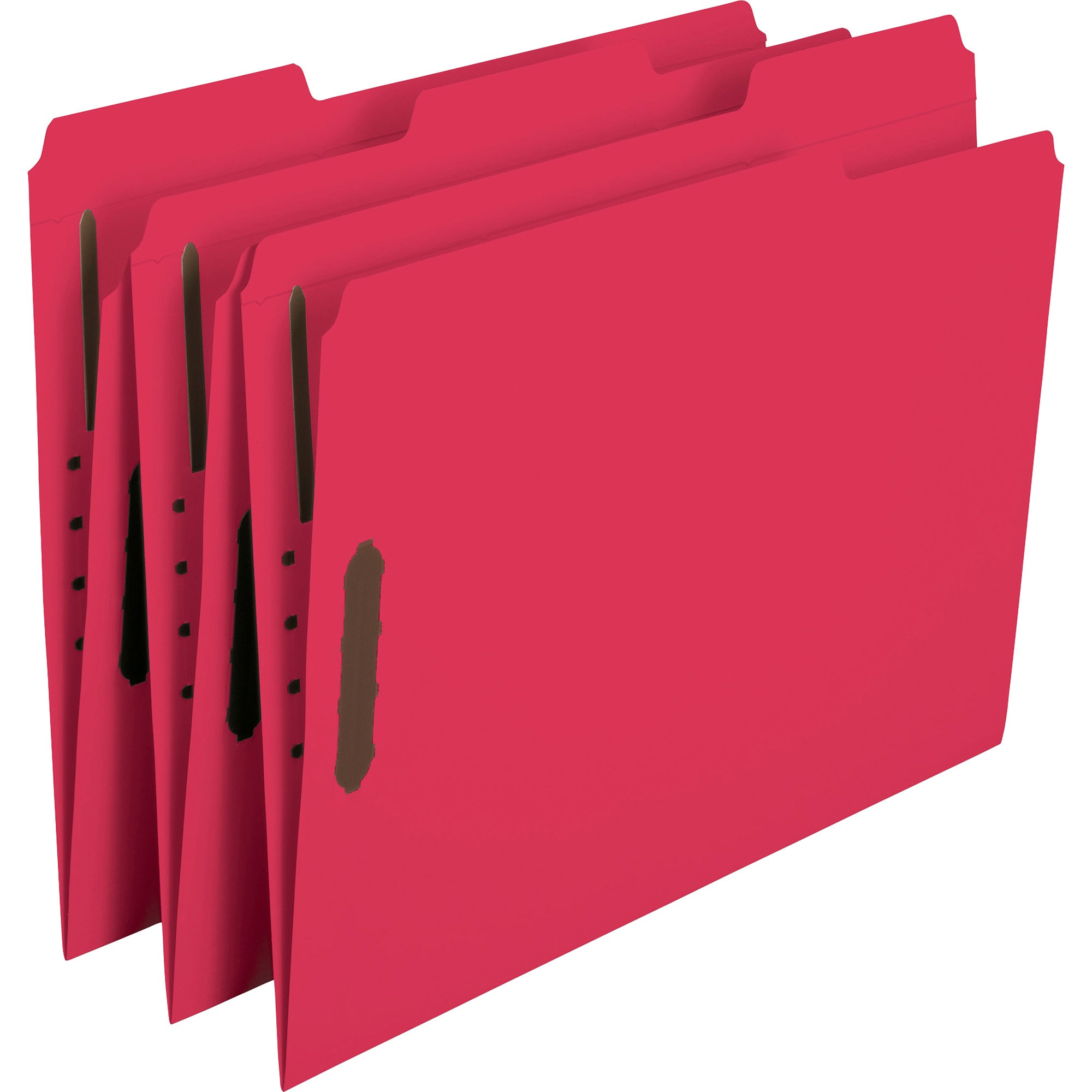 Smead Fastener Folders, 1/3 Tab, Red, Letter Size, 50/Box
