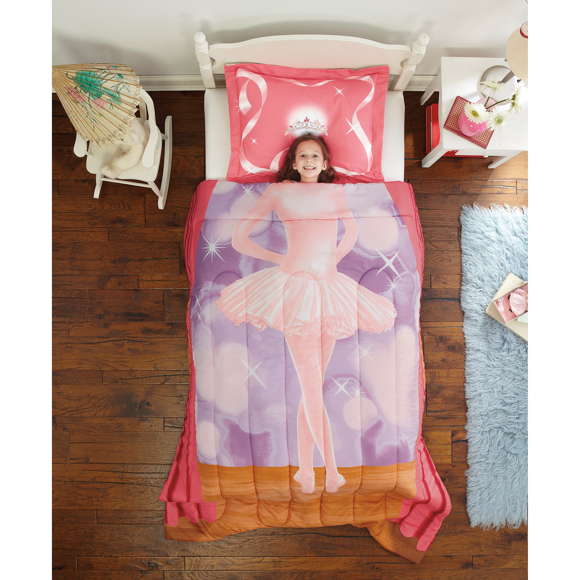 Dream Big Ballerina Twin Mini Bedding Comforter Set
