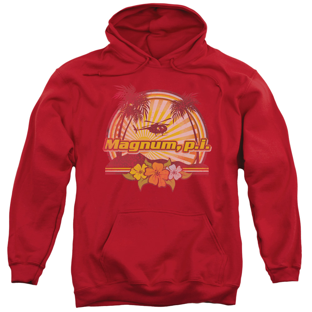 Magnum PI HawaIIan Sunset Mens Pullover Hoodie