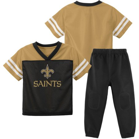 NFL New Orleans Saints Toddler Short Sleeve Top and Pant Set by