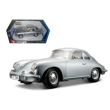 1961 Porsche 356B Coupe Silver 1/18 Diecast Car Model by