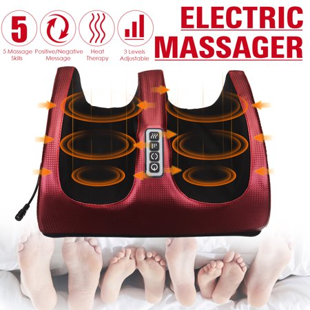 Electric Foot Massager with Heat, Shiatsu Kneading Massage Therapy Machine For Plantar Calf Arm Relaxing