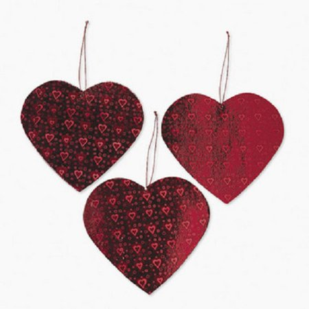 Lot of 12 Valentine Heart Cut Out Decorations Party (Valentine Classroom Decorations)