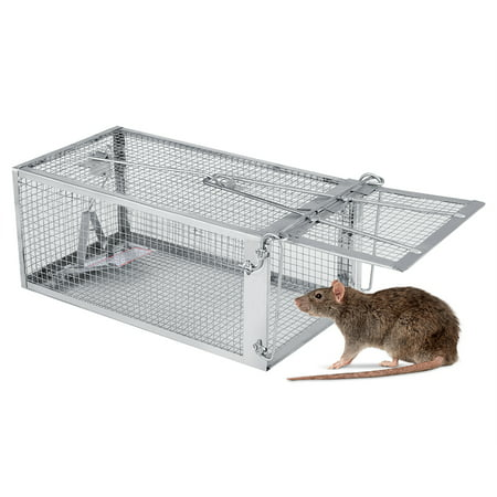 Sonew Mouse Trap Cage, Rat Trap,27*14*12cm Rat Trap Cage Small Animal Pest Rodent Mouse Control Bait Catch - image 4 of 8