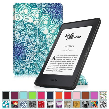 Fintie Origami Case for Amazon Kindle Paperwhite - Fits All Paperwhite Generations Prior to 2018, Emerald