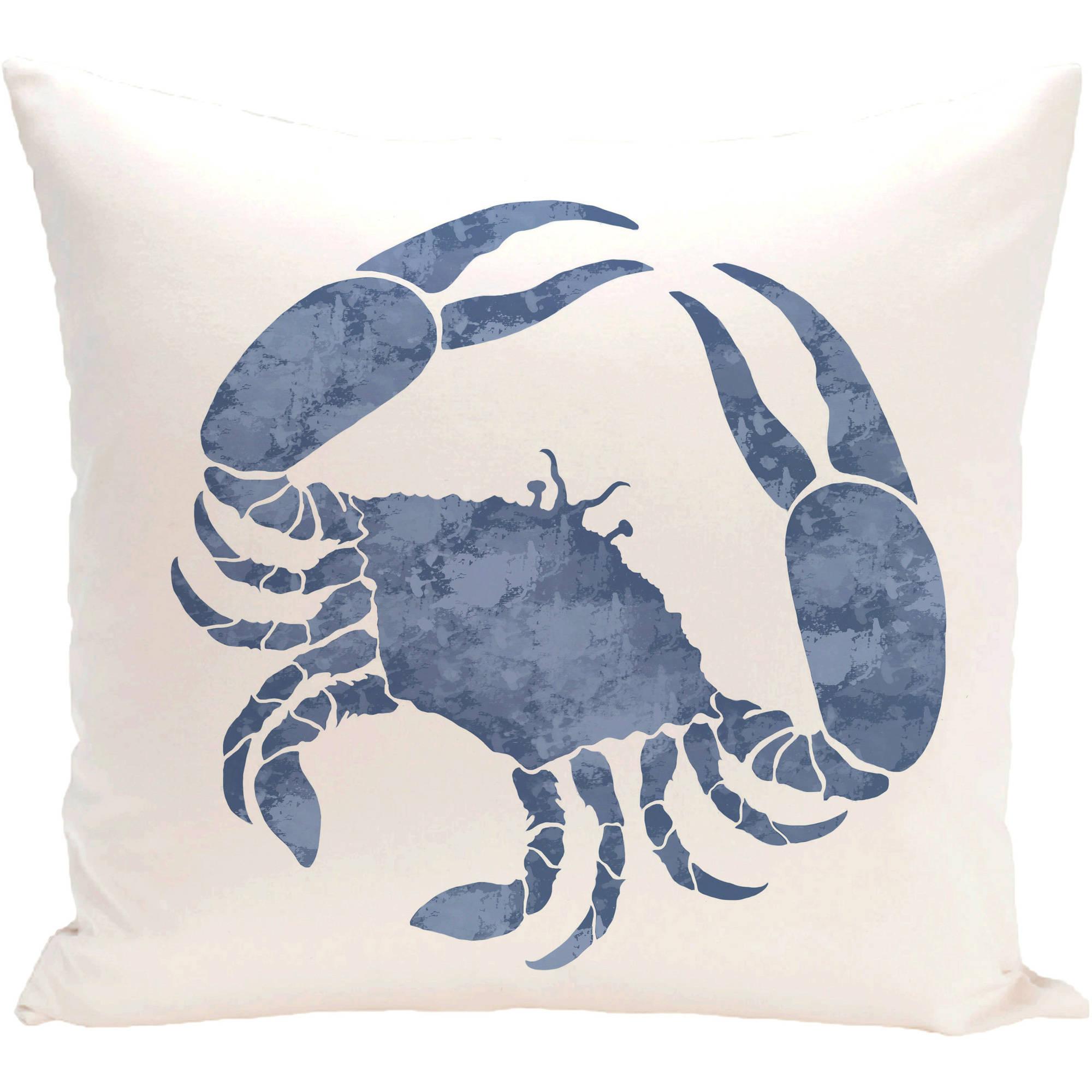 "Simply Daisy 16"" x 16"" Crab Animal Print Pillow"