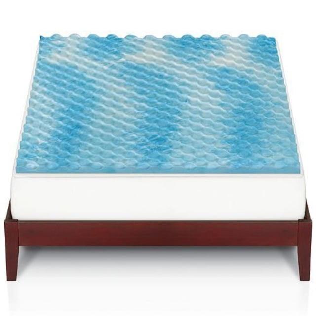 The Big One 1 1 2 In Gel Memory Foam Mattress Topper Queen Bed