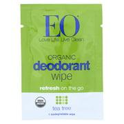 EO Deodorant Wipe - Tea Tree - Case of 24 - 1 Each