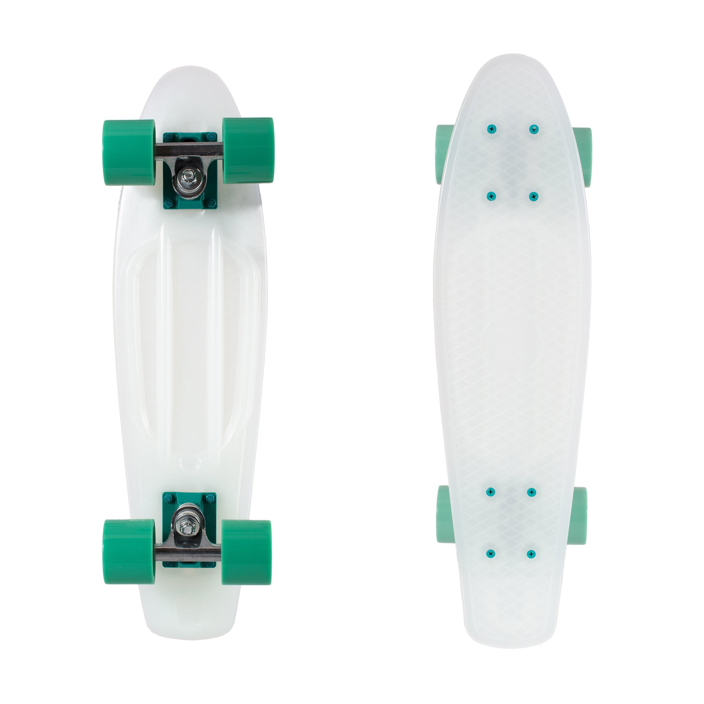 Retrospec Quip Skateboard 22.5 Classic Plastic Mini Cruiser Complete Skate Board