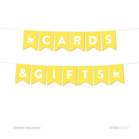 Cards & Gifts Yellow Gender Neutral Baby Shower Pennant Garland Party Banner - Yellow Ducks Baby Shower Theme