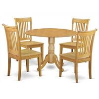 5-Pc Dining Table Set in Oak