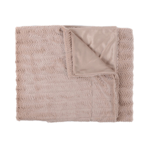 Sweet Home Collection Rib Decorative Reversible Faux Fur and Mink Throw Blanket