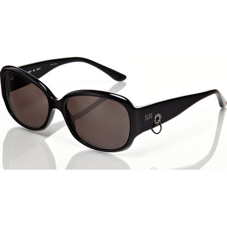 Sonia Rykiel Black Frame with Loop Detail Grey Lens Sunglasses
