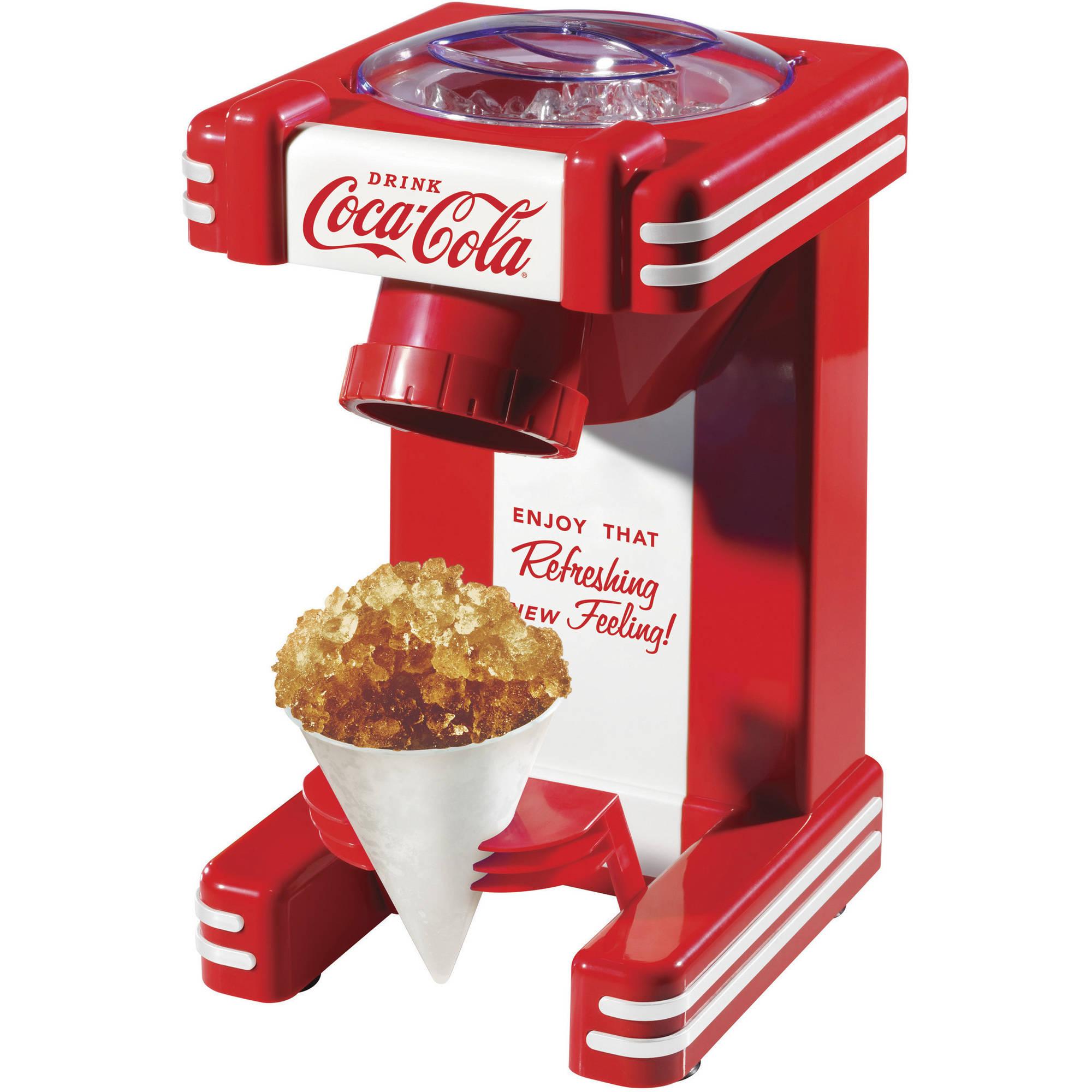 Set Coca Cola 4 Quart Ice Cream Maker Coke Countertop Snow Cone Machine