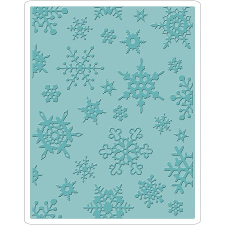 Embossing Folder Holly (Sizzix Texture Fades A2 Embossing Folder Simple Snowflakes )