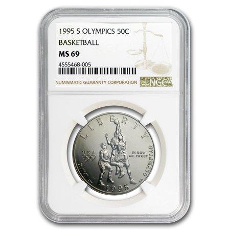 Clad Half Dollars - 1995-S Olympic Basketball 1/2 Dollar Clad Commem MS-69 NGC
