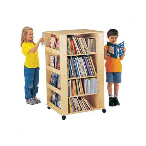 Jonti-Craft ThriftyKYDZ Multimedia 46.5'' Book Cart