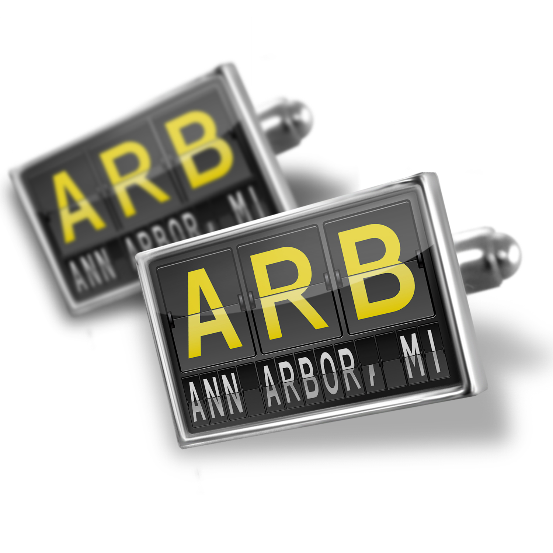 Cufflinks ARB Airport Code for Ann Arbor, MI - NEONBLOND