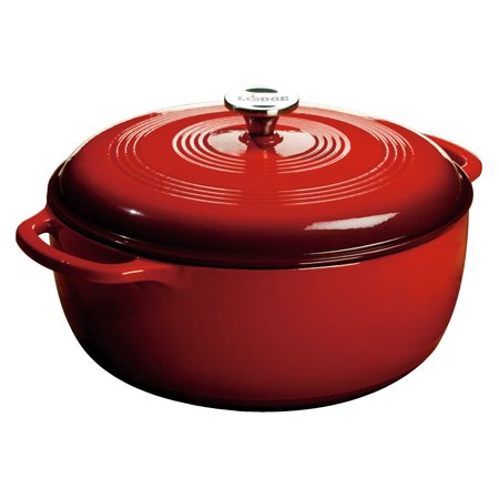 Lodge EC7D43 7.5 Quart Island Spice Red Dutch Oven (6 Qt Lodge Dutch Oven)