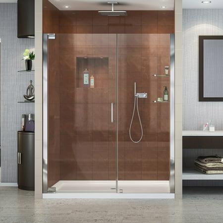 Frameless Pivot Shower Door (DreamLine Elegance 58-60 in. W x 72 in. H Frameless Pivot Shower Door in Chrome )