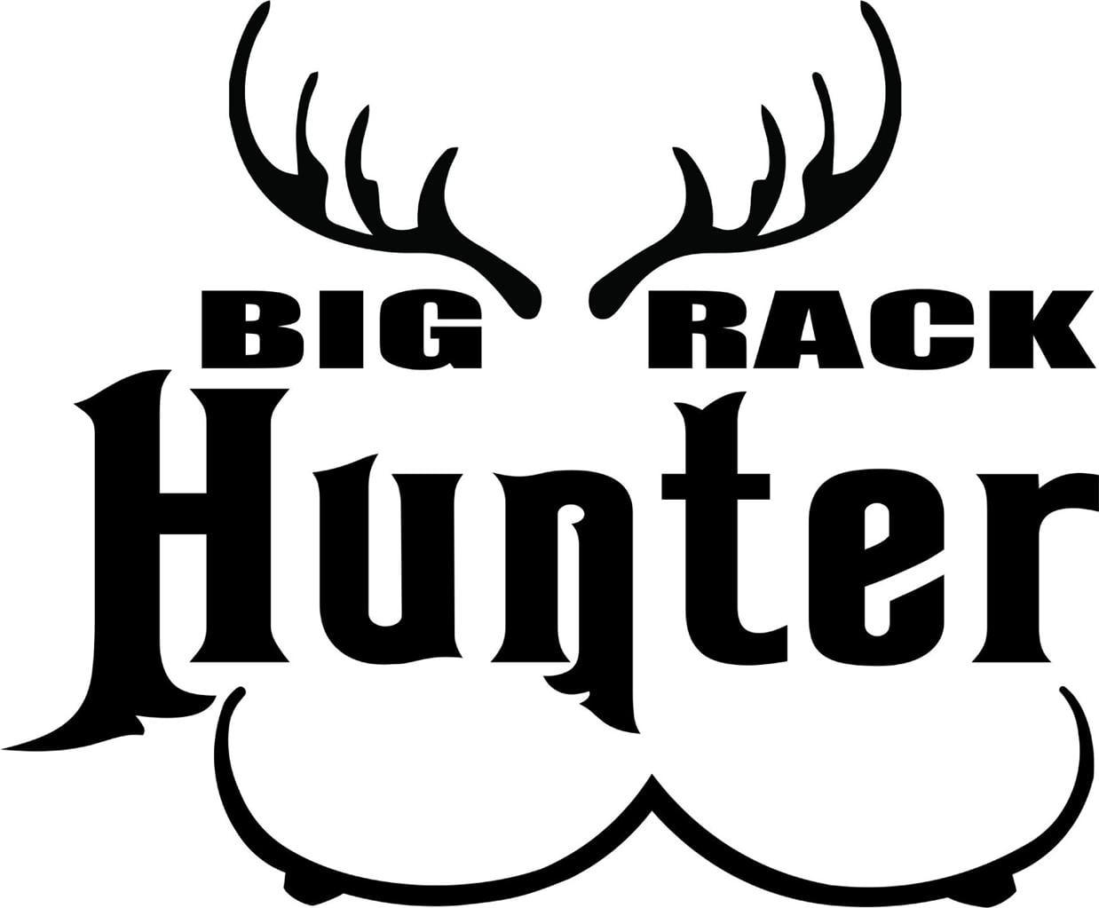 Custom Wall Decal Deer Buck Rack Animal Hunting Hunter Man Gun picture Art Boys Kids Sticker Vinyl Wall Decal 14 X 14... by Design With Vinyl