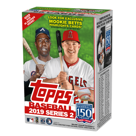 Topps Baseball Series - 2019 Topps Series 2 Baseball Relic Box- Walmart Exclusive- Over 100 Topps Baseball Series 2 Trading Cards | Auto & Rookie Cards | Mookie Betts Exclusive