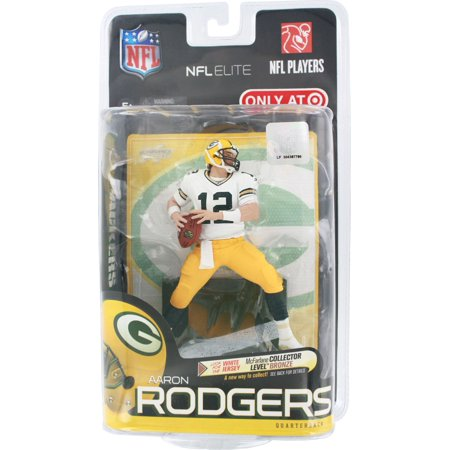 NFL Elite Players Aaron Rodgers Action Figure - White Jersey