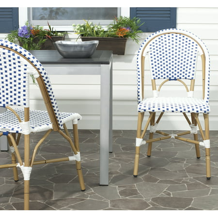 Safavieh Salcha Indoor/Outdoor Stacking Side Chair, Set of 2 ()