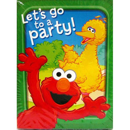 Sesame Street Invitations (Sesame Street 'Sunny Days' Invitations and Thank You Notes w/ Env. (8ct)