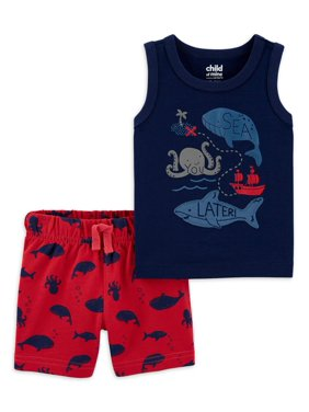 Child of Mine by Carter's Baby Boys Tank Top and Shorts Set, 2 pc set