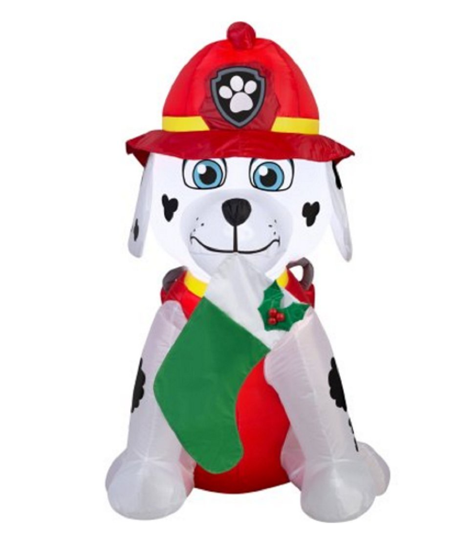 paw patrol christmas airblown inflatable marshall holiday decor 4ft tall by gemmy ship from us walmartcom