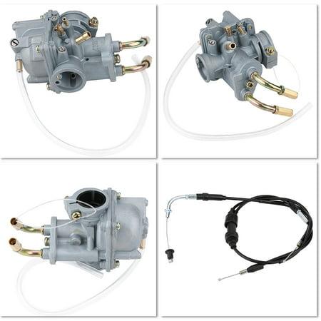 HERCHR Carburetor Carb, Carburetor Carb + Air Filter Box + Throttle Cable +  Choke Cable for Yamaha Y ZINGER PW 50 PW50, Carburetor Carb, Carb
