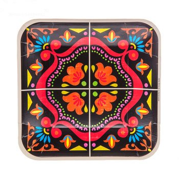 Small Fiesta Plates Southwestern Party Supplies Decorations 10 - Fiesta 10 Plate