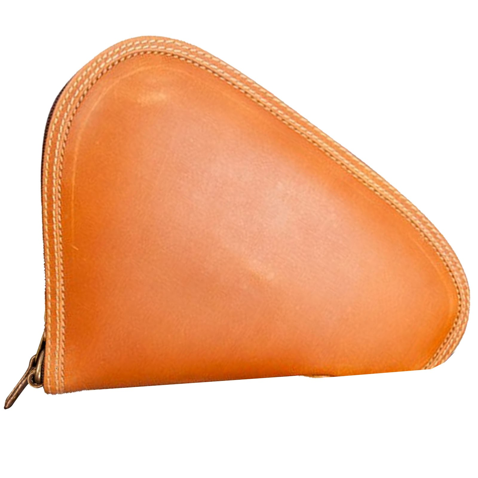 Canyon Outback Leather Sun Canyon Small Leather Pistol Case - Distressed Tan
