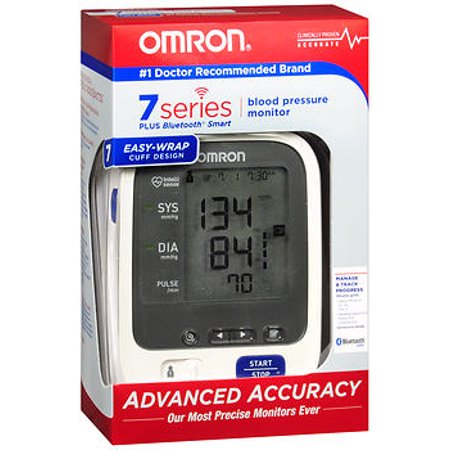 Omron 7 Series Blood Pressure Monitor Easy-Wrap Cuff Design