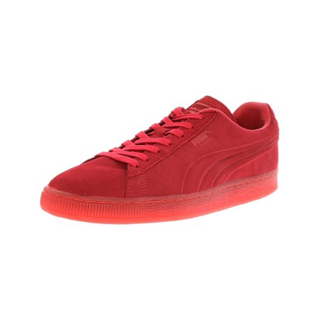 1654d5dfeb4f1b Puma Men s Suede Emboss Iced Fluo High Risk Red Fashion Sneaker - 10.5M