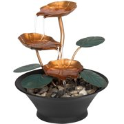 Tabletop water fountains best choice products home office decor indoor miniature water lily tabletop fountain workwithnaturefo
