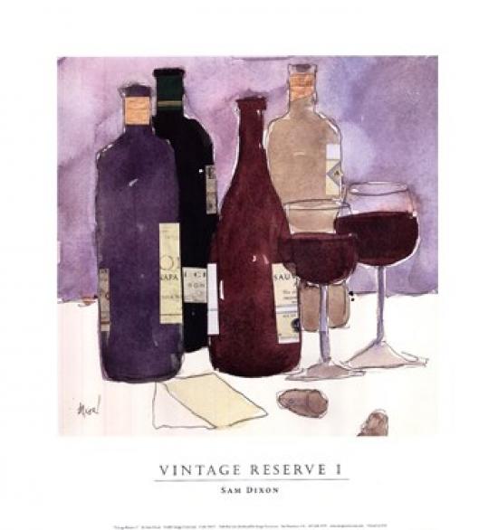 Vintage Reserve I Poster Print by Sam Dixon (13 x 14)