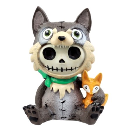 Ebros Gift Furrybones Big Bad Wolf Figurine 3.5