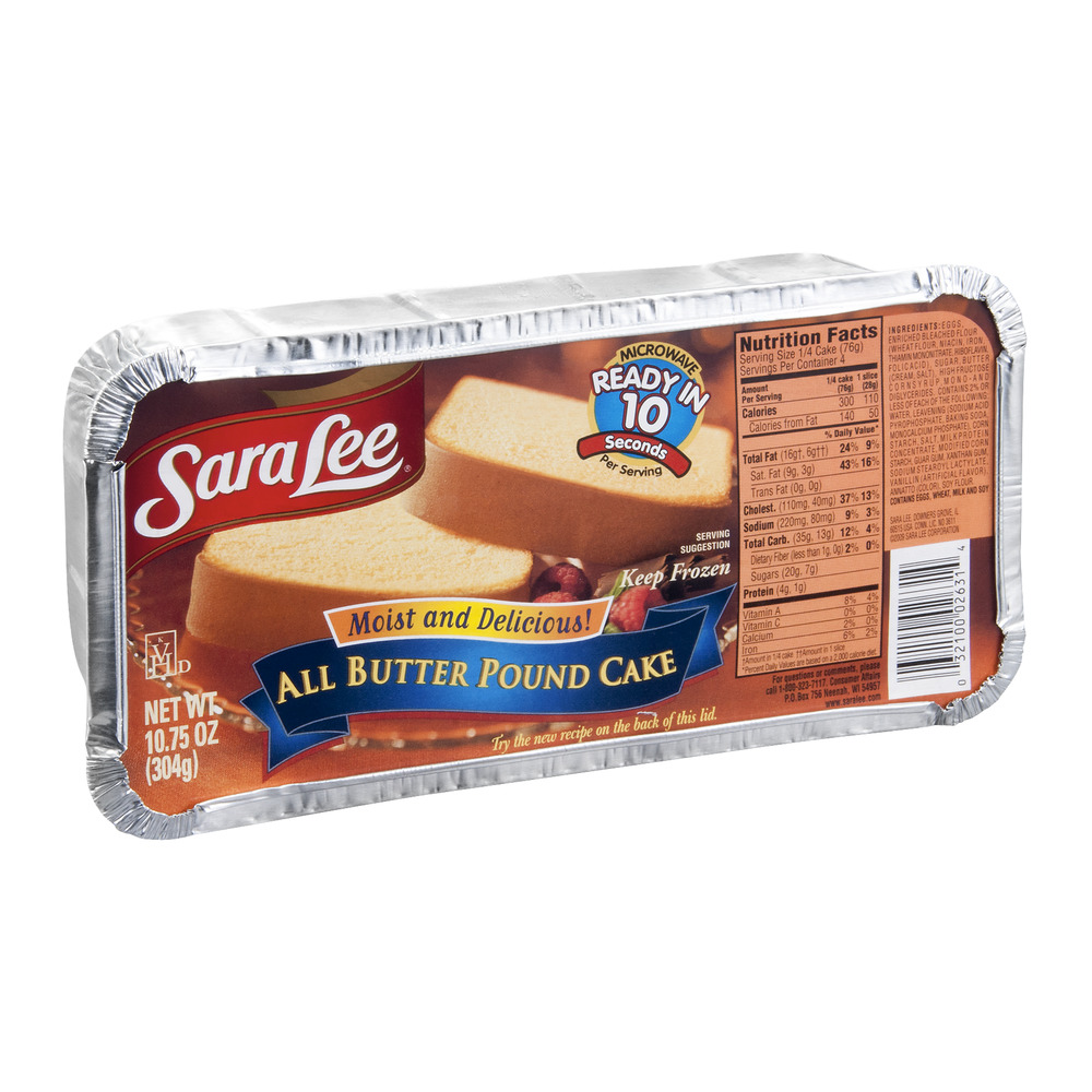 Sara Lee Pound Cake All Butter, 10.75 OZ