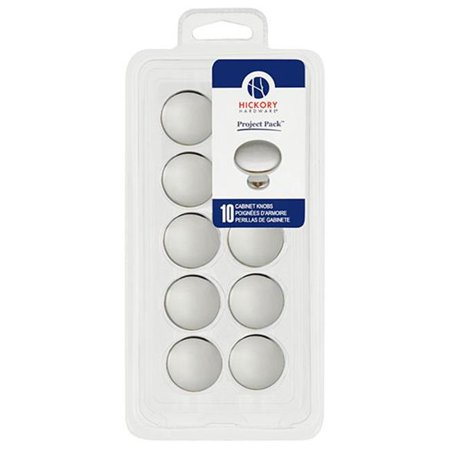 Hickory Hardware VP14255-26 Project Pack 1.12 In. Conquest Polished Chrome Cabinet Knob 10 Pack
