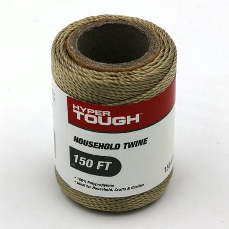 Hyper Tough 150 feet Polypropylene Household Twine, Brown, Durable